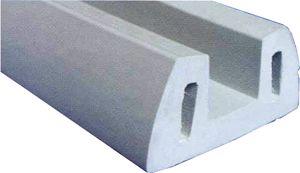 En oferta Barra Perfil de protección Gris para pantalanes en PVC 72x35 mm- 2mt