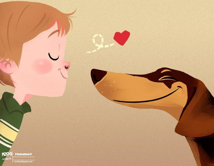 Friendship ♥. #illustration #drawing #cartoon #art #dog #friends #instagood #instadaily ★ I don't draw for free, sorry. Don't insist ★