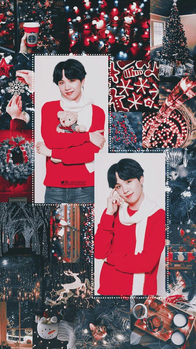 Bts Merry Christmas Bts Christmas Bts Wallpaper Bts Suga