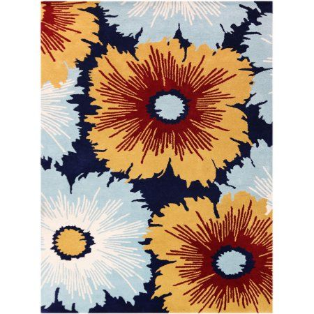 Bombay Modern Design Hand-Tufted Rug 3'6 inchx5'6 inch, Blue