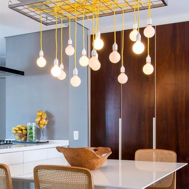 Brighten up your living area with these scandi style hanging pendants 💡 We love the bright yellow, perfect for adding a warm glow 💛 Alternate at different heights to create a statement chandelier. Lots of colours available, why not mix & match! Made in Sweden.