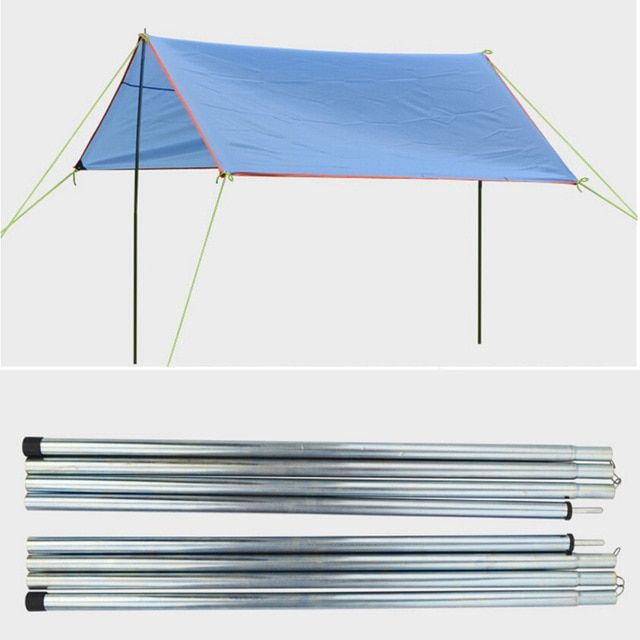 8pc Outdoor Camping Folding Awning Rod Foldable Tent Pole Support Stand Pole Sun Shelter Tarp Beach Tent Rods Tent Accessories Review Beach Tent Outdoor Sun Tent Accessories