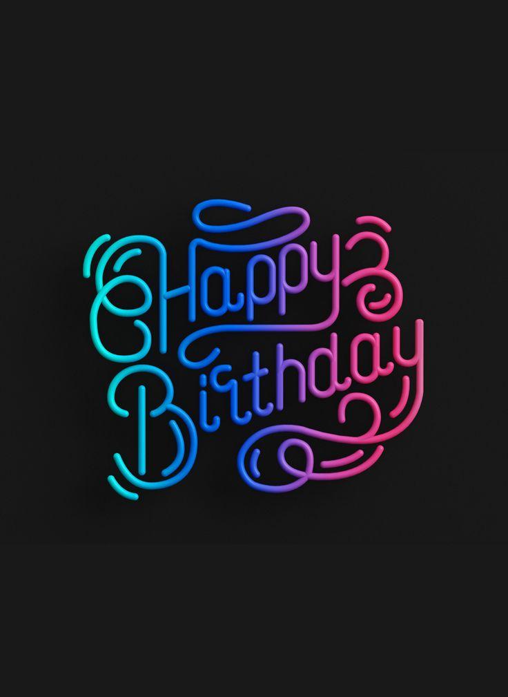Lettering 3D C4D Animation Happy Birthday