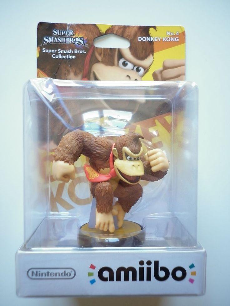 "Donkey Kong ""monde de Mario"" Super Smash Bros Figurine Interactive Amiibo Wii U"