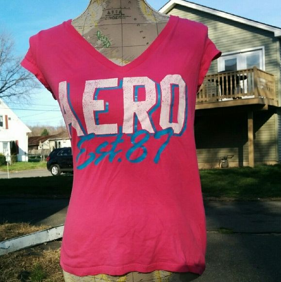 Pink Aeropostale shirt Worn few times has a slight stain no holes Aeropostale Tops