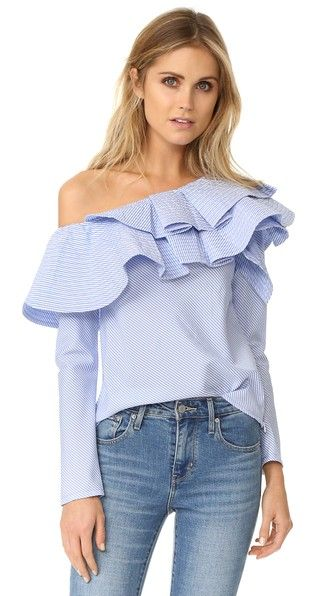 ¡Consigue este tipo de top básico de STYLEKEEPERS ahora! Haz clic para ver los detalles. Envíos gratis a toda España. STYLEKEEPERS Ruffle One Shoulder Top: Quilted ruffles detail the one-shoulder neckline of this pinstriped STYLEKEEPERS top. Hidden side zip. Lined. Fabric: Plain weave. 100% polyester. Wash cold or dry clean. Imported, China. Measurements Length: 22in / 56cm, from shoulder Measurements from size S (top básico, basic, basico, basica, básico, basicos, casual, clasica, clas...