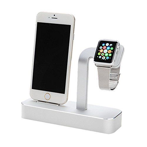 Taotree Apple Watch Stand/ Ständer, 2 in 1 Premium Aluminium Charging Dock /Station / Dockingstation /Stand /Halter für Apple iWatch (BASIC/SPORT/EDITION Modell) & iPhone(iPhone 5/5 s/6/6 Plus) (Silber) von TaotreeTM, http://www.amazon.de/dp/B01B4F79OY/ref=cm_sw_r_pi_dp_gIIxxbTWCZMVJ