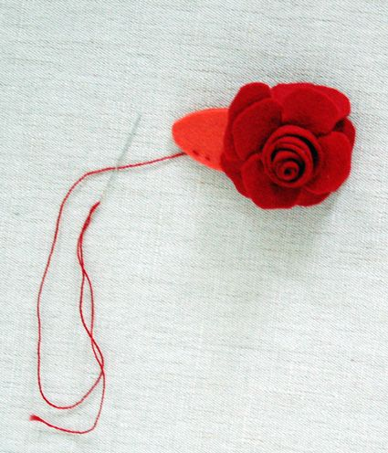 I would feel like a champion if I made felt flower barrettes for my daughters.  And their pals.