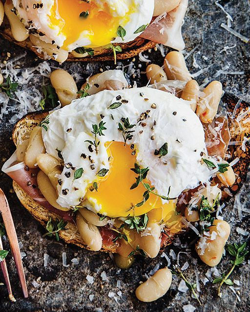 This dish is perfect for a weekend brunch, if you want to skip the bread you can add the rest on top of greens.