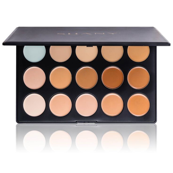 Professional Cream Foundation and Camouflage Concealer - 15 Color Palette | SHANY Cosmetics