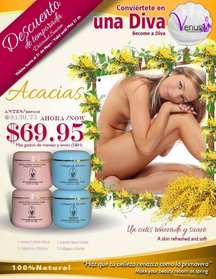 Porque siempre necesitas verte bella. Venus América Corp. te trae el Kit ACACIAS, para devolver la suavidad y la belleza a tu piel. Ingresa a http://venusamerica.com/protectordelcutis