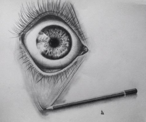 Gallery For gt Scary Eye Drawings