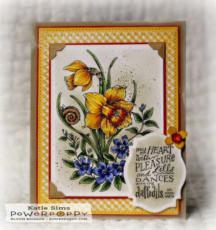 Inky Peach Designs: It's Power Poppy Friday and a Dancing with Daffodils Encore!