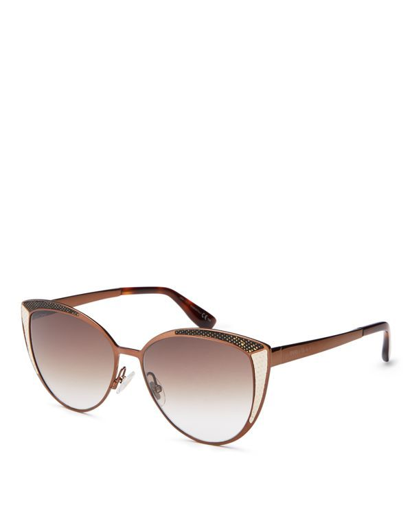Jimmy Choo Domi Mirrored Watersnake Sunglasses, 56mm   Made in Italy   100% UV protection   Logo at temples, watersnake detailing on frames   56 mm lens width   Web ID:1622798