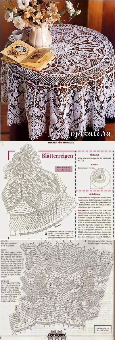 Модели вязания: Круглая скатерть <3 Deniz <3