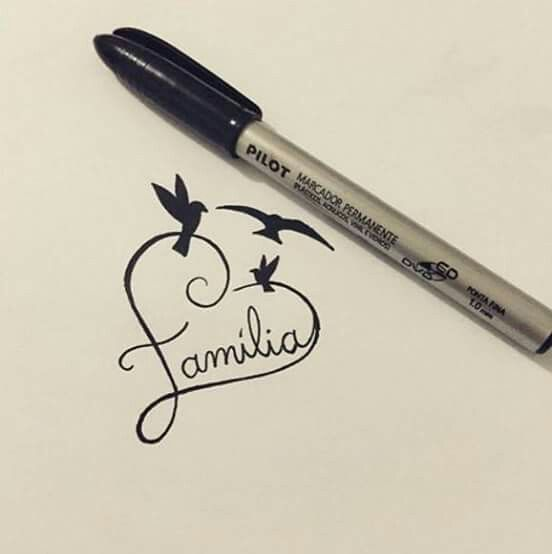 like the heart with familia as tattoo idea