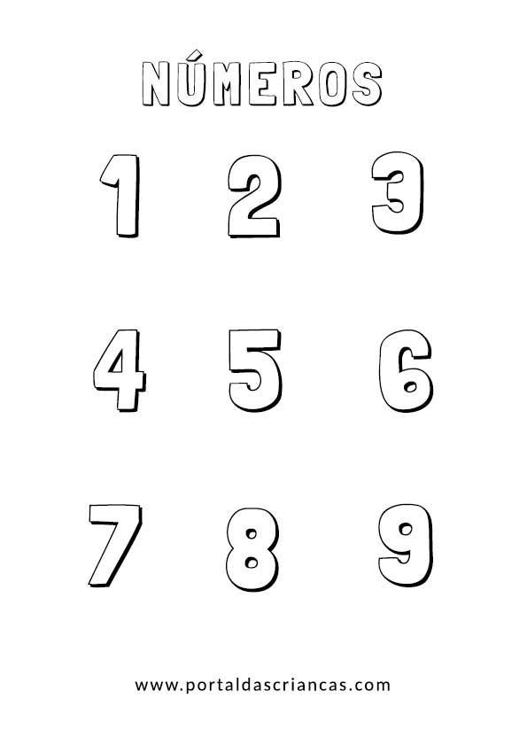 reconhecer os números até 9