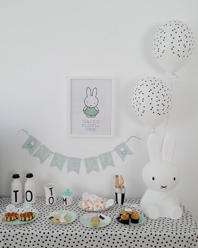 HIS FIRST BIRTHDAY PARTY ♡  Baby M has the sweetest Miffy party by @ninadesigns…