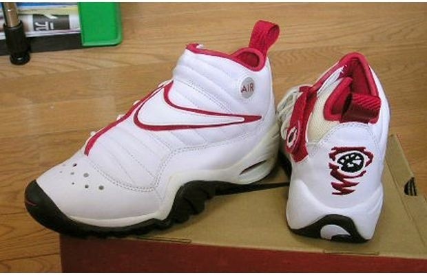 Nike Air Shake Ndestrukt  Year released: 1996    Complex says: How do you match a sneaker with a crazy-ass dude who dies his hair in tie-dye patterns? Nike's got you. The Air Shake Ndestrukt was the sneaker of choice for Dennis Rodman in his first season with the Jordan-led Chicago Bulls 2.0. The sneaker featured a new trend with the lacing system on the inner side of the shoe and an oversized Swoosh lapping over the top of the foot. The thick outsole made the Shake (and it's Rattle and…