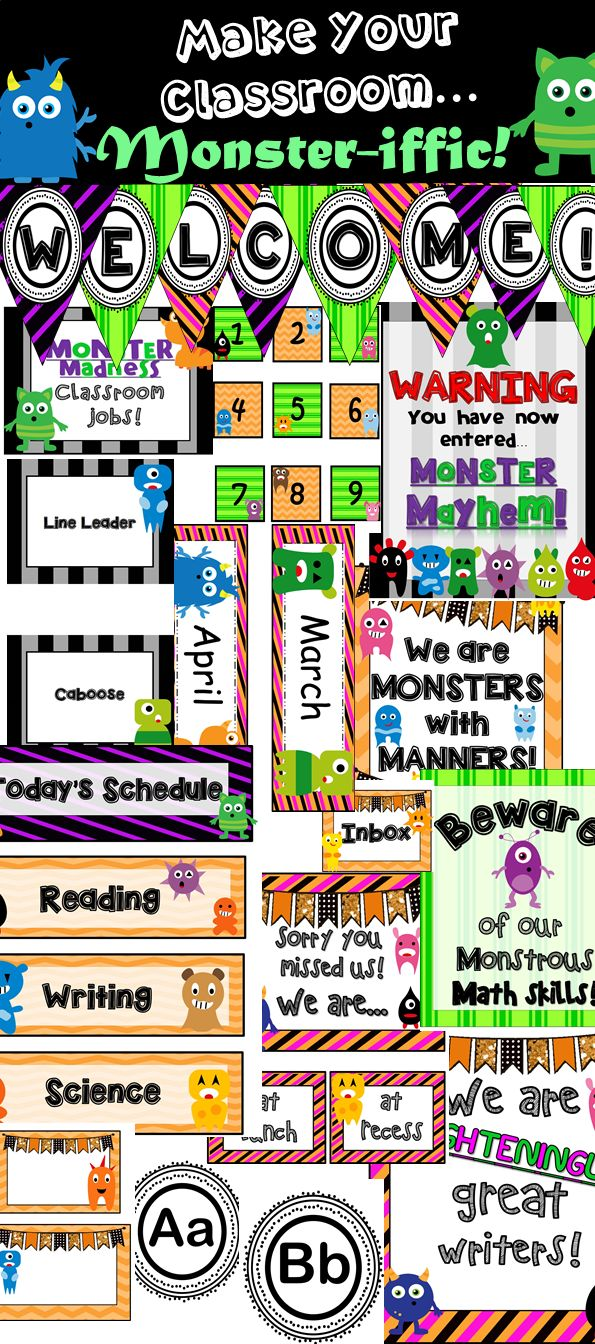 Monster Classroom Decor : Top ideas about monster classroom on pinterest keep