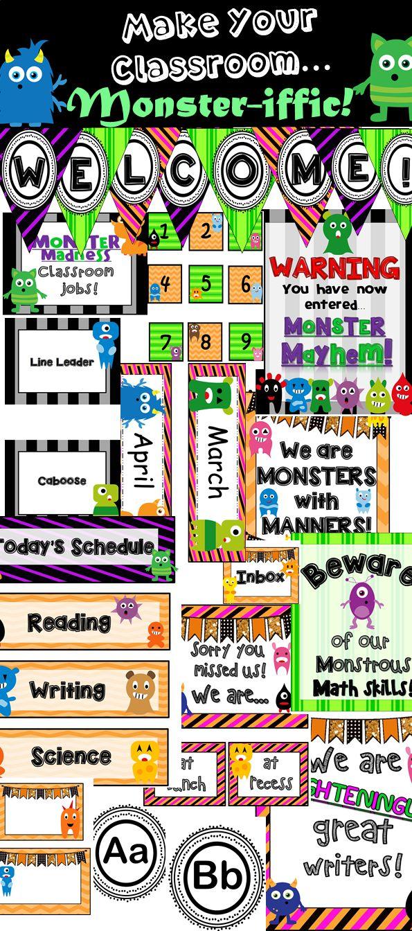 Monster Classroom Decor : Top ideas about monster classroom on pinterest keep