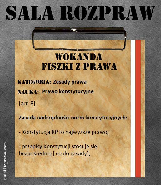 20 - Zasada nadrzędności konstytucji