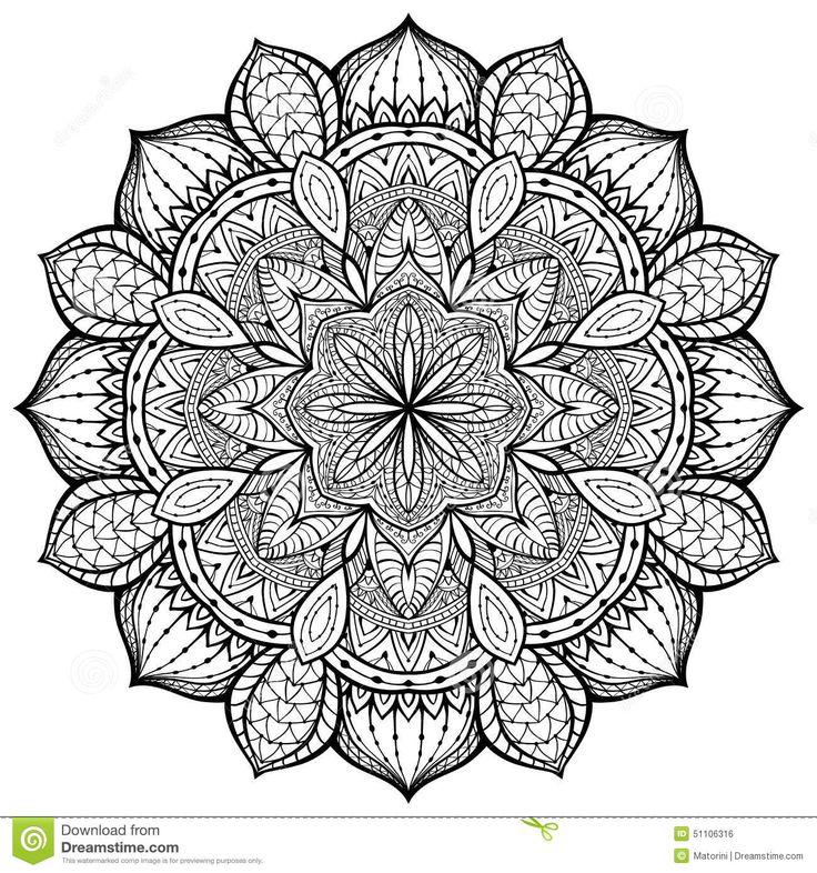 mandala black and white - Google Search