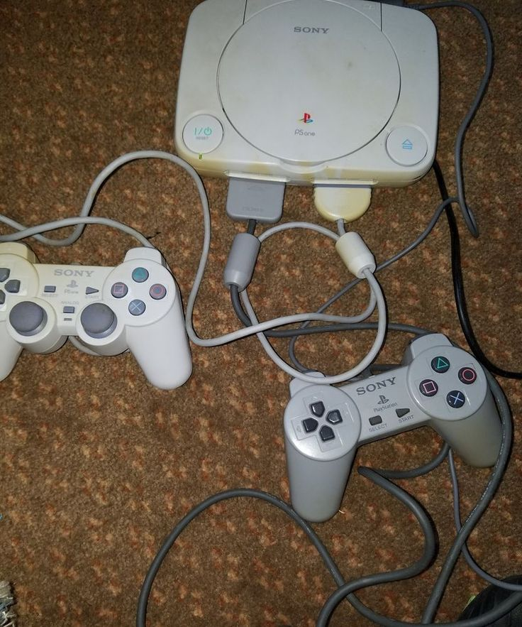 Sony PSOne PlayStation w Crash Bandicoot 2 Game - and 2 controllers console lot    The console and the one controller have sun fading    The system does not include an av cord***    I tested it with one that I had but not included*    The system does work and fully tested, but power button gets stuck sometimes, I just lightly tap the system next to it and it turns on    Please inspect photos for more information     THANKS AND be sure to check out all our other collectibles for sale | eBay!