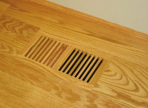 Wood Vent Covers   Wood Designs Flush No Frame Floor Register   Vent Covers  Unlimited