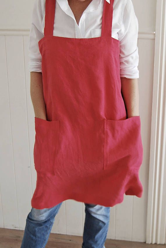Hey, I found this really awesome Etsy listing at https://www.etsy.com/nz/listing/519510640/linen-apron-cross-back-apron-raspberry