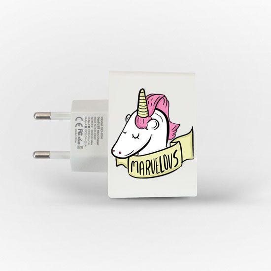 Amo isso! Carregador Personalizado iPhone/Android Duplo USB de Parede Gocase - Marvelous
