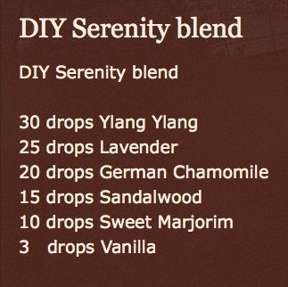 Serenity blend recipe