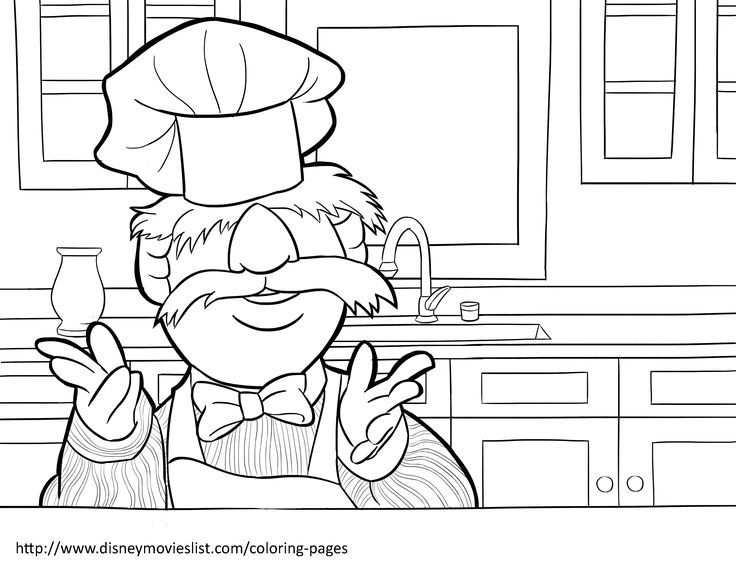 Swedish Chef Coloring Pages Coloring Pages Disney Coloring Pages Muppets