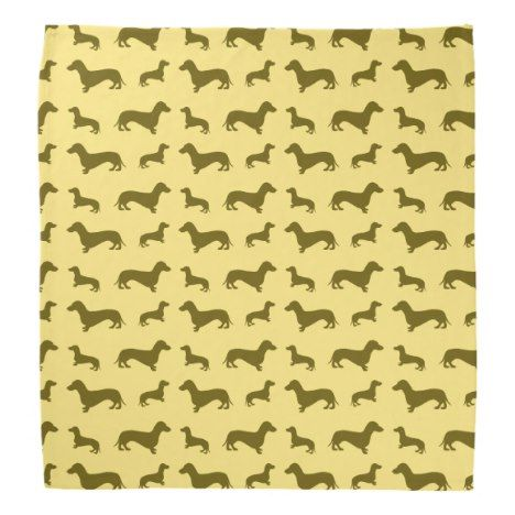 Cute pastel yellow dachshund pattern bandana #pastel #pattern #accessories