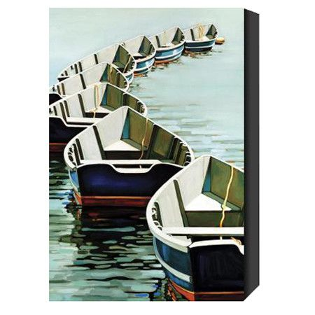 Boats Giclee Canvas Print