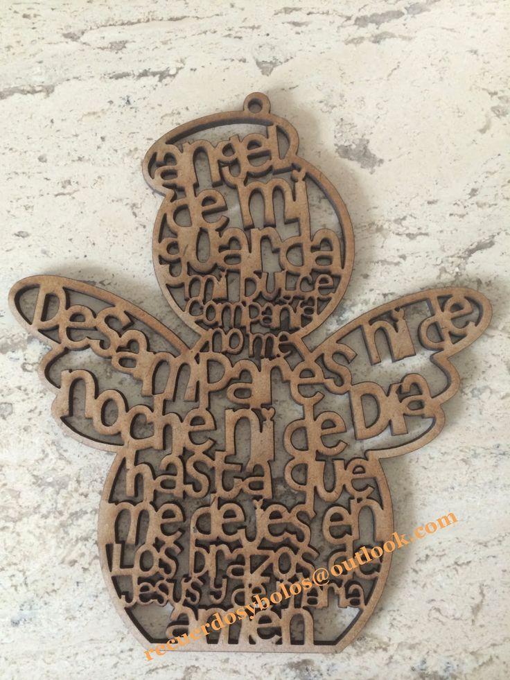 Bolos y recuerdos para Bautizo y Primera Comunion: Cruces de madera con el Padre Nuestro: