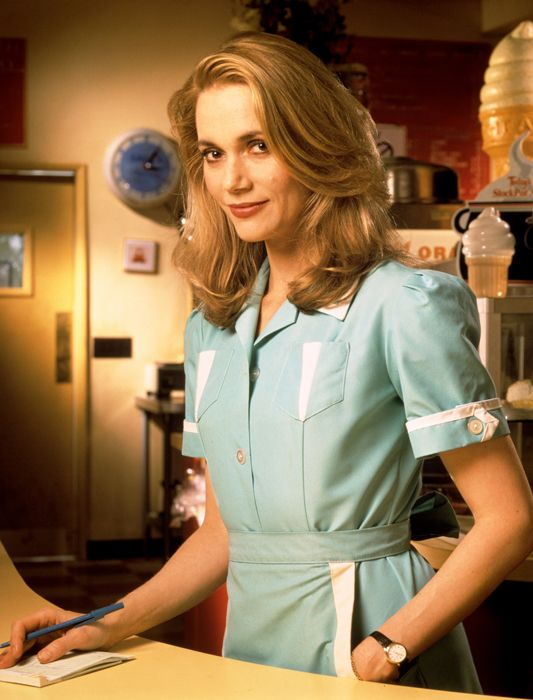 Peggy Lipton in Twin Peaks as Norma Jennings. Double-R Diner owner, lover of Big Ed Hurley, organizer of Meals on Wheels with Laura.