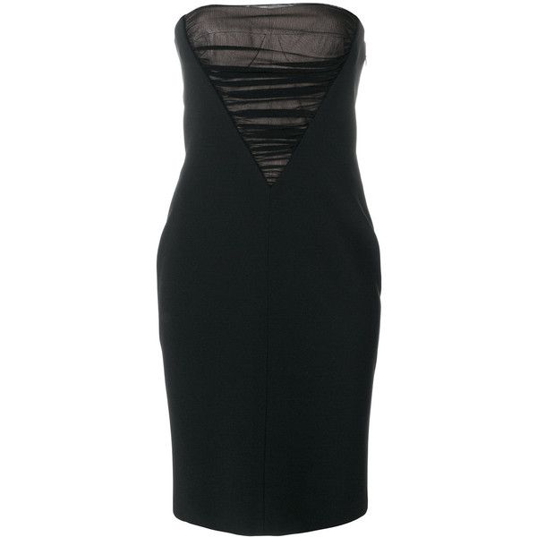 Alexander Wang mesh panel fitted dress (£1,205) ❤ liked on Polyvore featuring dresses, black, short fitted dresses, short tight cocktail dresses, short tight dresses, fitted dress and short cocktail dresses