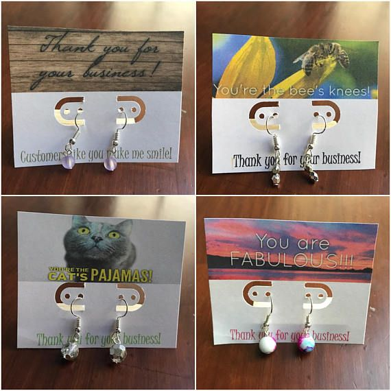 Bulk Earrings On Thank You Earring Cards Great For Customer Gifts Courtesy Of Independent Retailers