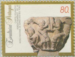 Sello: Sculptures (Portugal) (Sculptures) Mi:PT 2023,Sn:PT 2003,Yt:PT 2001,Afi:PT 2221