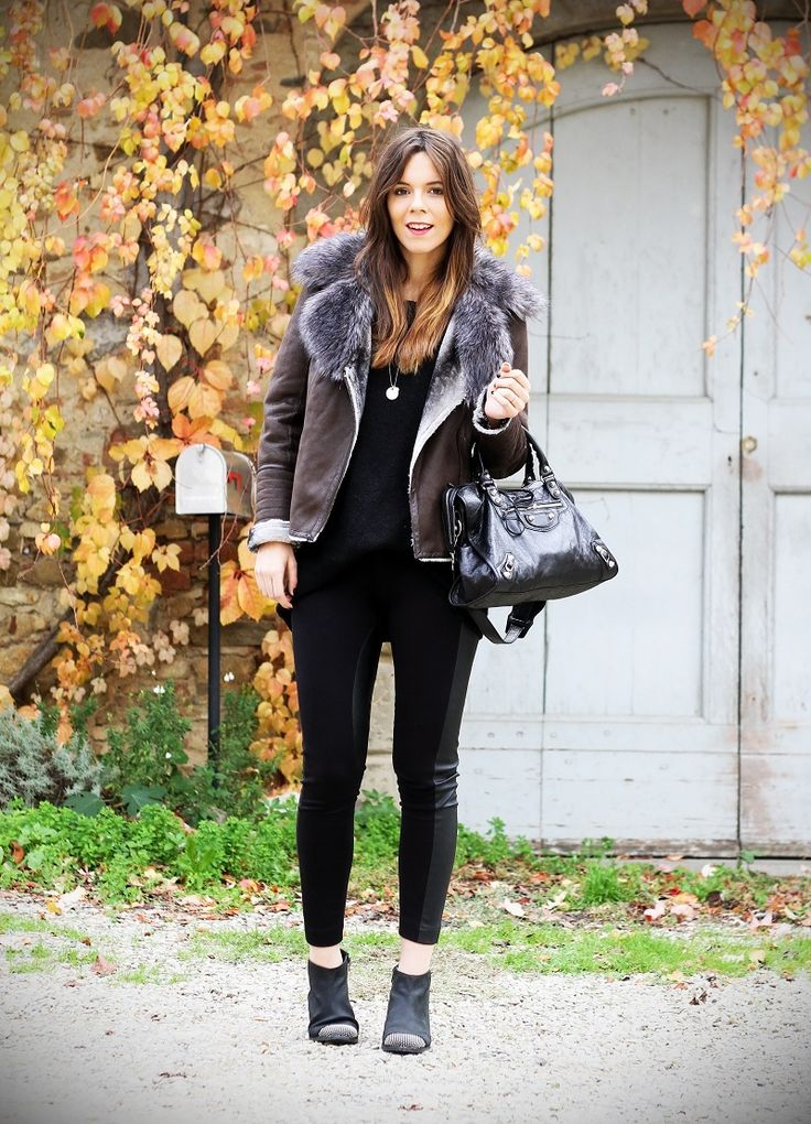black and brown, leather and balenciaga www.ireneccloset.com