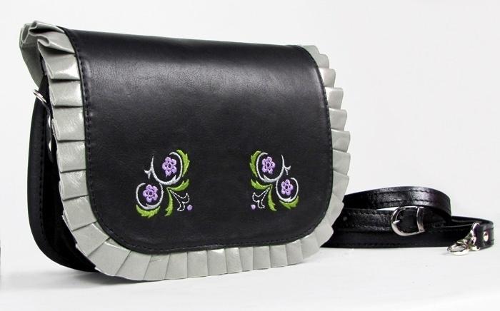 Trendy handtasche aus  leder.    Material: eine Kombination aus Leder und Wildleder     Größe: ca. 20 x 16 x 7 cm(B,H,T)    Riemen: einstellbare Länge