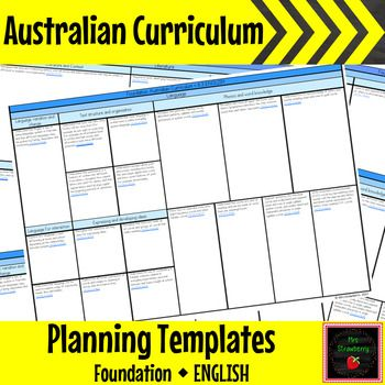 Foundation Australian Curriculum Planning Templates - English - These Australian Curriculum Planning Templates for Foundation English will make your planning simple and organised. Stay accountable and keep your planning all in one place. This document can be added to throughout the year.