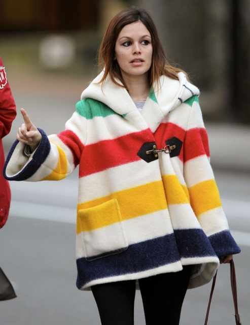 SMYTHE Hudson Bay point blanket jacket. Only 100 were made (see http://www2.hbc.com/hbcheritage/faq/pointblanketfaq/ for the full history.)
