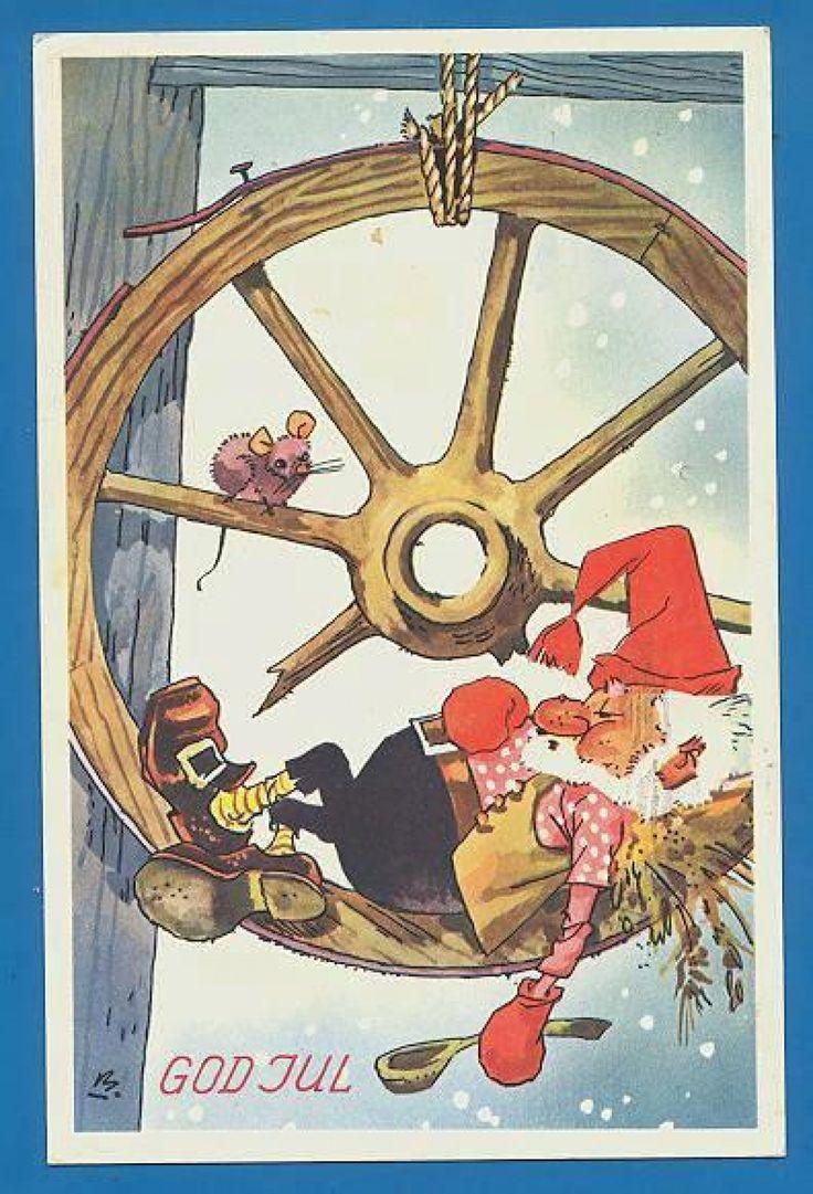 Julekort av Gunnar Bratlie.