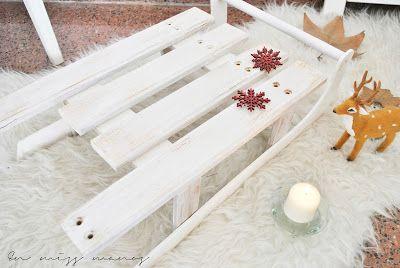 En Miss Manos: DIY Trineo navideño de madera