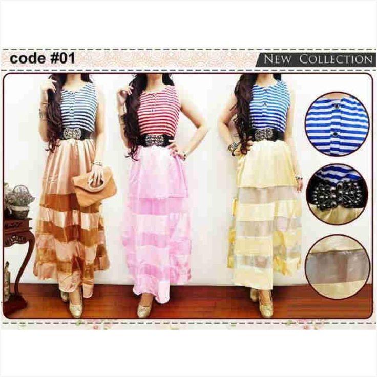 Long dress peplum - GROSIR Ukuran : All size fit to L Tidak ecer, pembelian dalam SERI sesuai warna