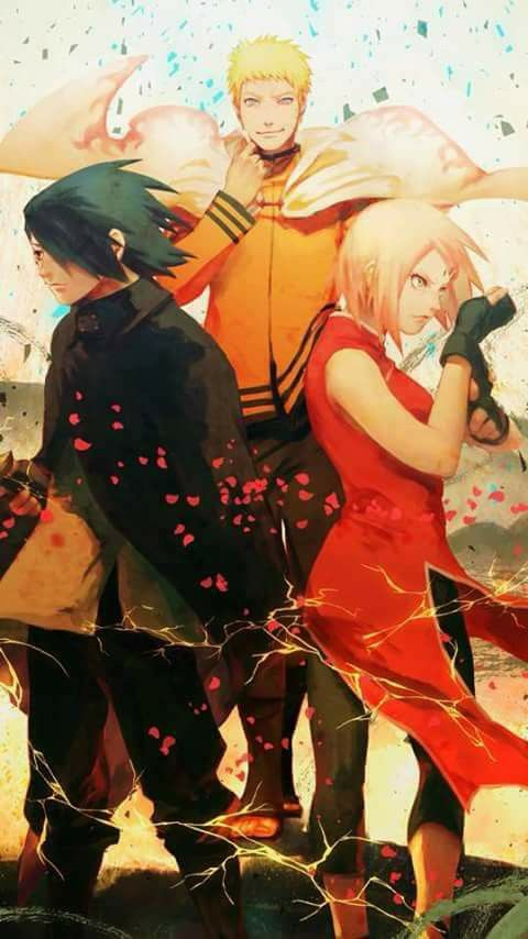 Team 7 Adult Forms Wallpaper - Naruto Uzumaki (The 7th Hokage), Sakura Haruno and Sasuke Uchiha ♥♥♥