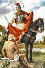 Today the Church celebrates the memorial of St. Martin of Tours, bishop. St. Martin is the first bishop and confessor honored by the Church in the West. He was a principal apostle of Gaul, where his feast was celebrated as a holyday of obligation with an octave and popular celebrations.
