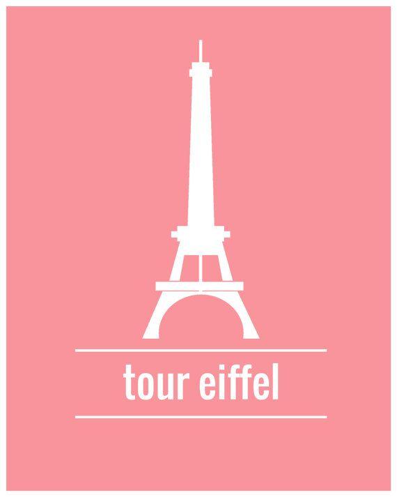 Eiffel tower illustration poster paris monument - Poster tour eiffel ...